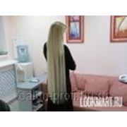 Наращивание 100 прядок славянских волос длиной 60см фото