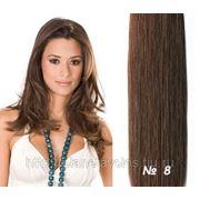 Славянские волосы Ринг Стар (Ring Star) 100 прядей на кольцах. Длина 60 см. Каштановый — оттенок №8 фото