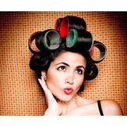 Укладка волос на бигуди и эектротермобигуди фото