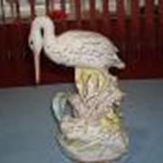 Аист и лягушка,30см. фарфор фото