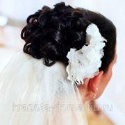 Укладка свадебная/украшения в стоимость не входят/до 4000 руб фото