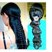 Плетение кос (жгуты) фото