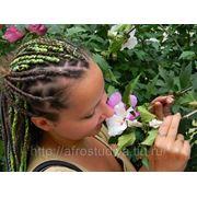 Африканские косички с нитками фото