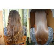 Кератиновое лечение и выпрямление волос фотография
