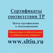 Сертификат технического регламента фото