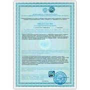 Свидетельство о государственной регистрации на Минеральную воду фото