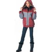 Куртка зимняя Гудвин бордовая с серым фото