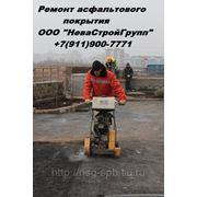 Ямочный ремонт асфальтобетонных покрытий в СПб.. фото