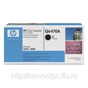 Заправка лазерного цветного картриджа HP Q6470A CLJ 3600/3800/CP3505MFP c заменой чипа черный фото