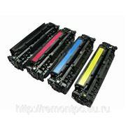 Заправка лазерного цветного картриджа HP CE251A/ CE252A/CE253A с заменой чипа фото