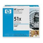 Заправка картриджей HP Q7551X (№51X), принтеров HP LaserJet P3005/M3027/M3035 фото