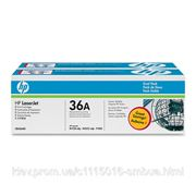 HP Картридж HP LJ P1505/ M1120/ 1522 series DUAL PACK (CB436AD) фото