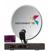 Установка комплекта спутникового телевидения Континент-ТВ фото