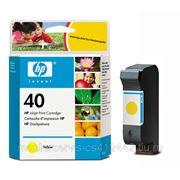 Заправка картриджа HP 40 (Yellow) для принтера HP DJ 1200C,1600C,1600СМ