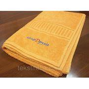 Вышивка логотипа на полотенцах фото