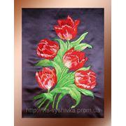 Вышивка цветов фото
