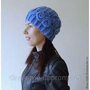 Волошки-женская вязаная шапка фото