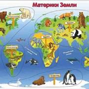 Рамка-вкладка Материки земли фото