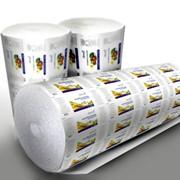 Полотно полиэтиленовое с логотипом фото