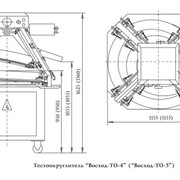 Тестоокруглитель с центральной регулировкой Восход-ТО-4 фото