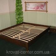 Кровать эконом вариант без изголовья (190/200*120/140) массив - сосна, ольха, дуб. фото