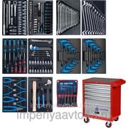 Набор инструментов в красной тележке, 173 предмета KING TONY 932-000MMR фото