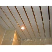 Монтаж подвесных реечных потолков (Реечный потолок) фото