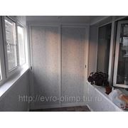 Отделка балкона пластиком( русские узоры светлые) фото