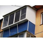 Балконы аллюминивые с крышей в каркасе с выносом