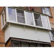 Балконы пластиковые с выносом в две стороны