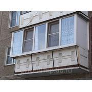 Балкон ПВХ с выносом (97-серия, 4.3-м) фото