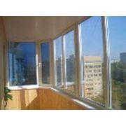 Отделка балкона пластиком (комбинированый) фото