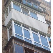 Балконы «под ключ» в Киеве. Балконы остеклить недорого фото