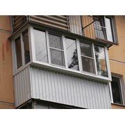 Балконы пластиковые с выносом вперед