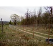Забор из сетки рабицы высотой 1,5 м
