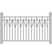 Забор металлический № 12 фото