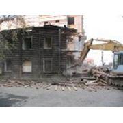 Демотаж ветхих домов, старых сооружений.