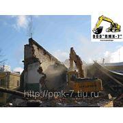 Снос домов, демонтаж зданий и сооружений фото