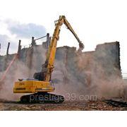Снос-демонтаж зданий и сооружений фото