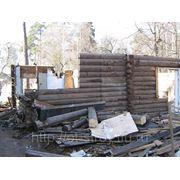 Демонтаж загородных домов фото