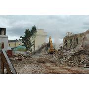 Демонтаж строительных построек фото