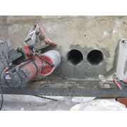 Алмазное бурение бетона и железобетона. фото