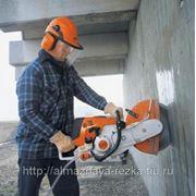 Алмазная резка бетонной стены из ФБС толщиной 40 см фото