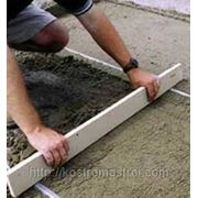 Создание бетонной подготовки под полы фото