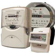 Установка приборов учета электроэнергии(электрические счетчики) фото