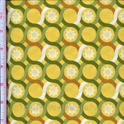 Бежево -желтые круги с зеленой окантовкой фото
