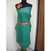 Платье кожанное фото