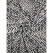 Шелк серый, черный цвета фото