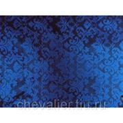 Жаккардовый шелк Королевский синий цвет фото