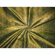 Шелк зеленый, коричневый, черный фото